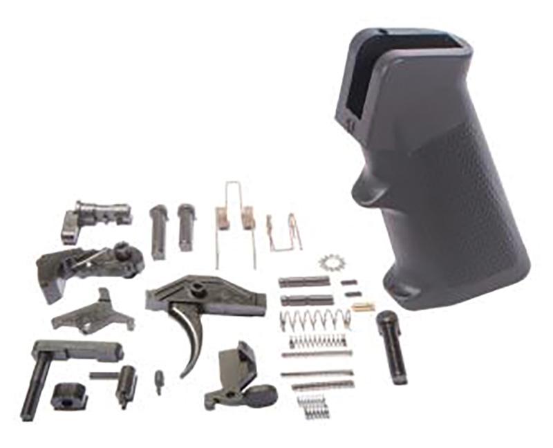 ATI ATIATI15LPKNANO Saf-T-First Lower Parts Kit AR-Platform Black Grip, Black Stock