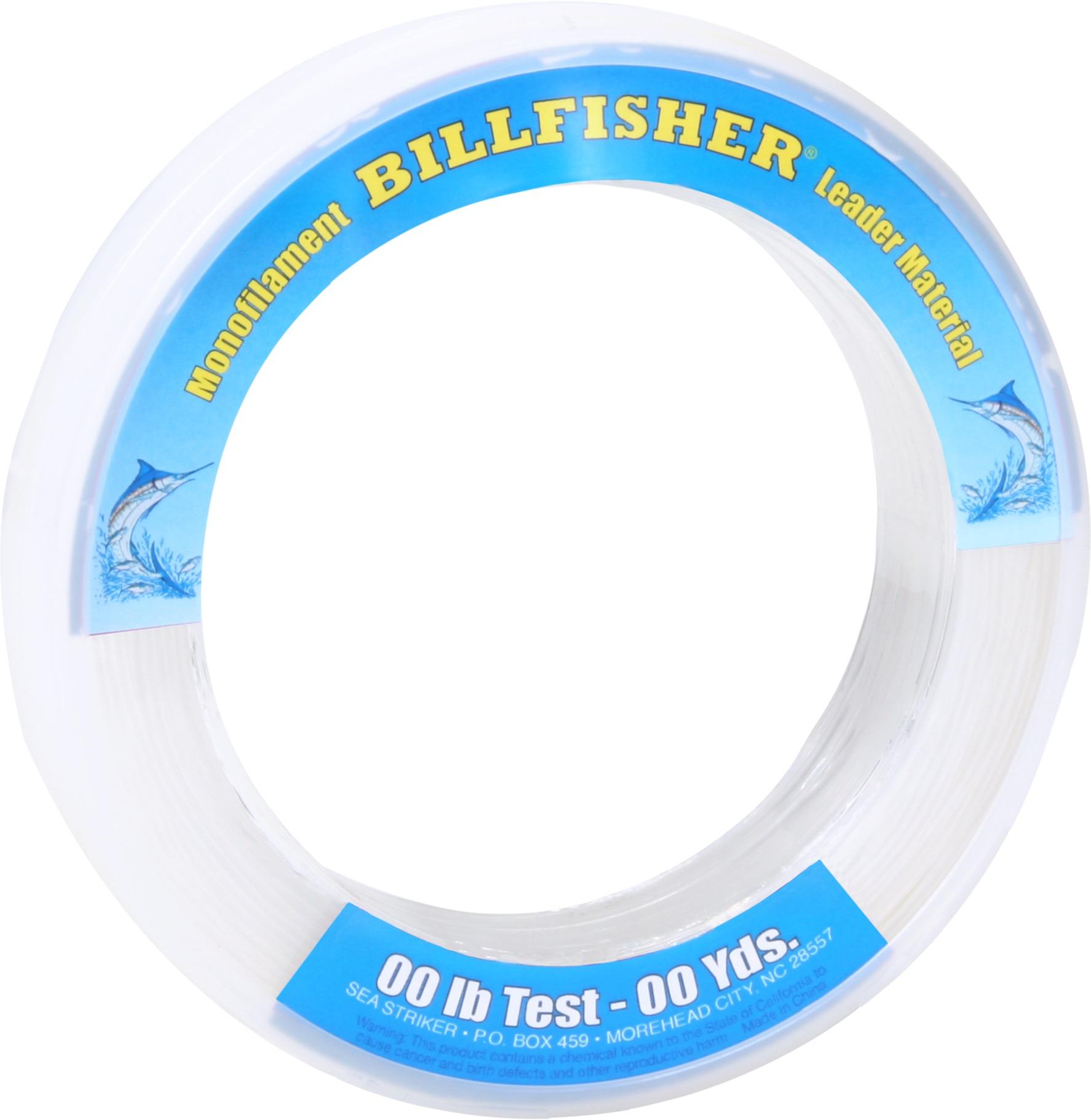 Billfisher LB40100 Mono Leader Bracelet 40lb 100yd Clear