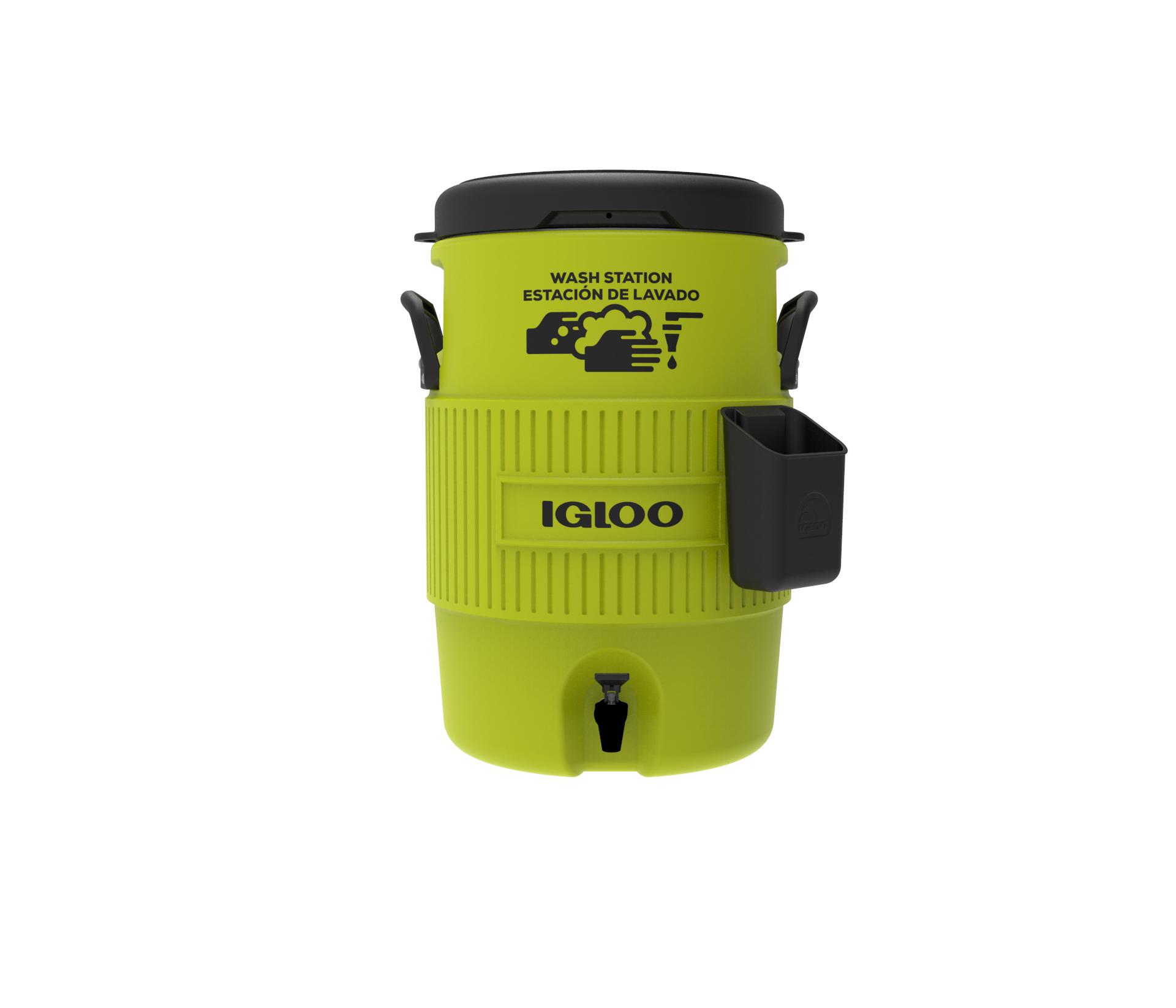 Igloo 42260 5 Gallon Hand Wash Station, Acid Green/Black