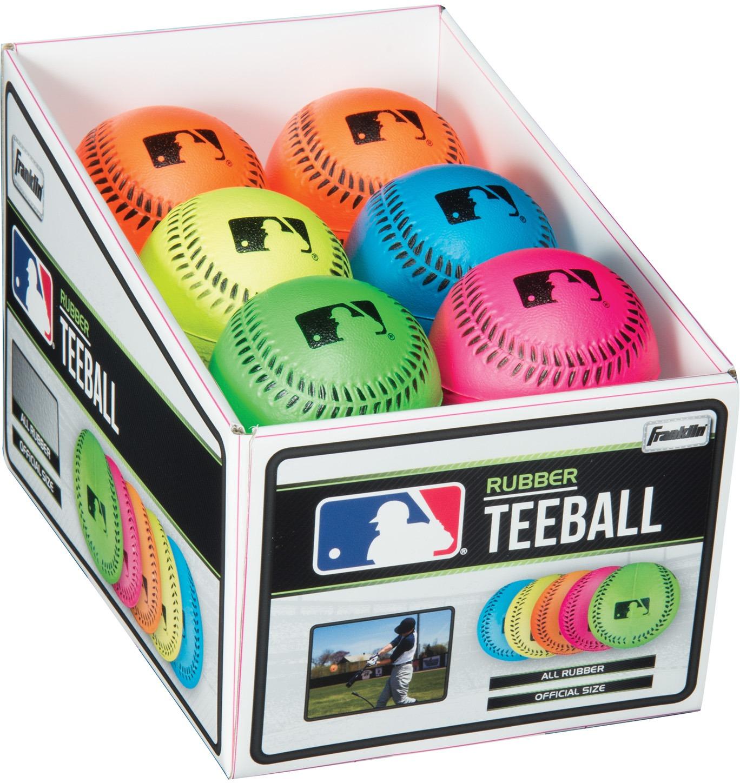 Franklin 23342S4 Franklin MLB Neon Rubber Teeball 12 pc PDQ