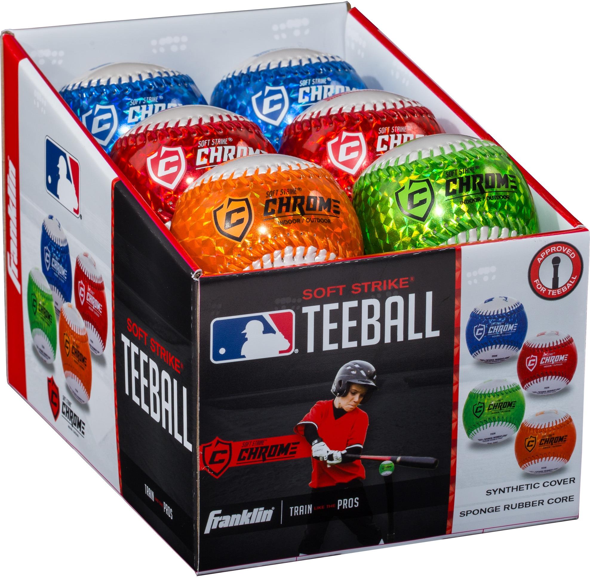 Franklin 23339S4 MLB Soft Strike Metallic Tee Balls PDQ