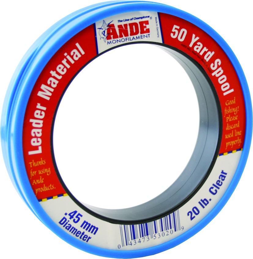 Ande PCW50-20 Mono Leader Wrist Spool 20lb 50yd Clear