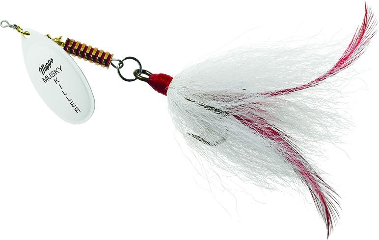 Mepps BM HW-W Musky Killer In-Line Spinner Bucktail, 3/4 oz, 5/0