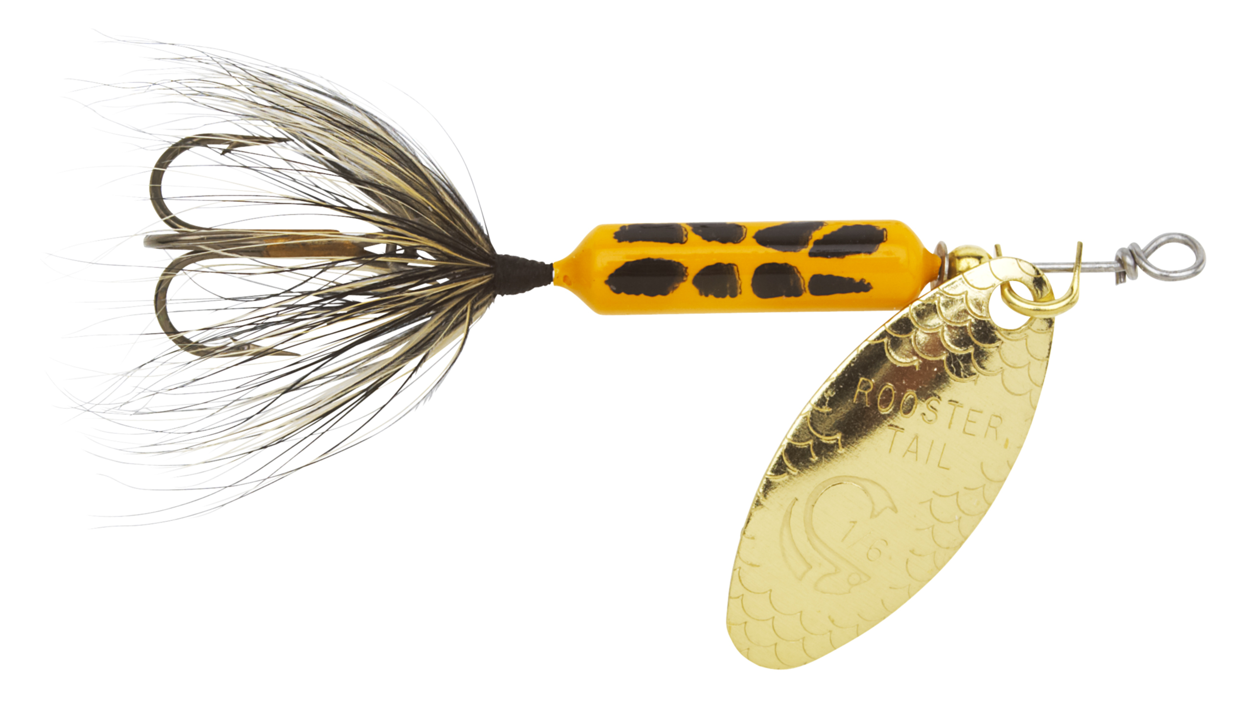 Wordens 208-YLCD Rooster Tail In-Line Spinner, 2 1/4