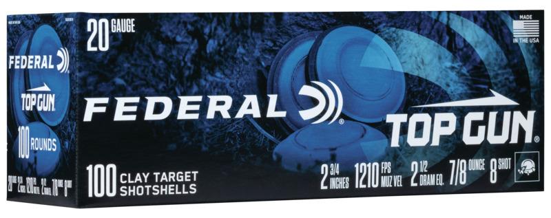 Federal TG201008 Top Gun  20 Gauge 2.75