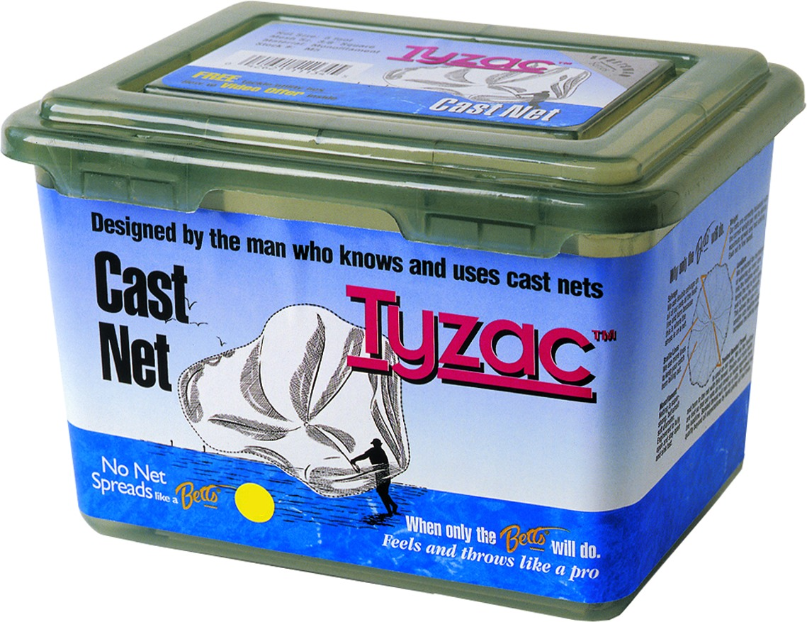 Betts M6-I Tyzac Mono Cast Net 6' Boxed 3/8