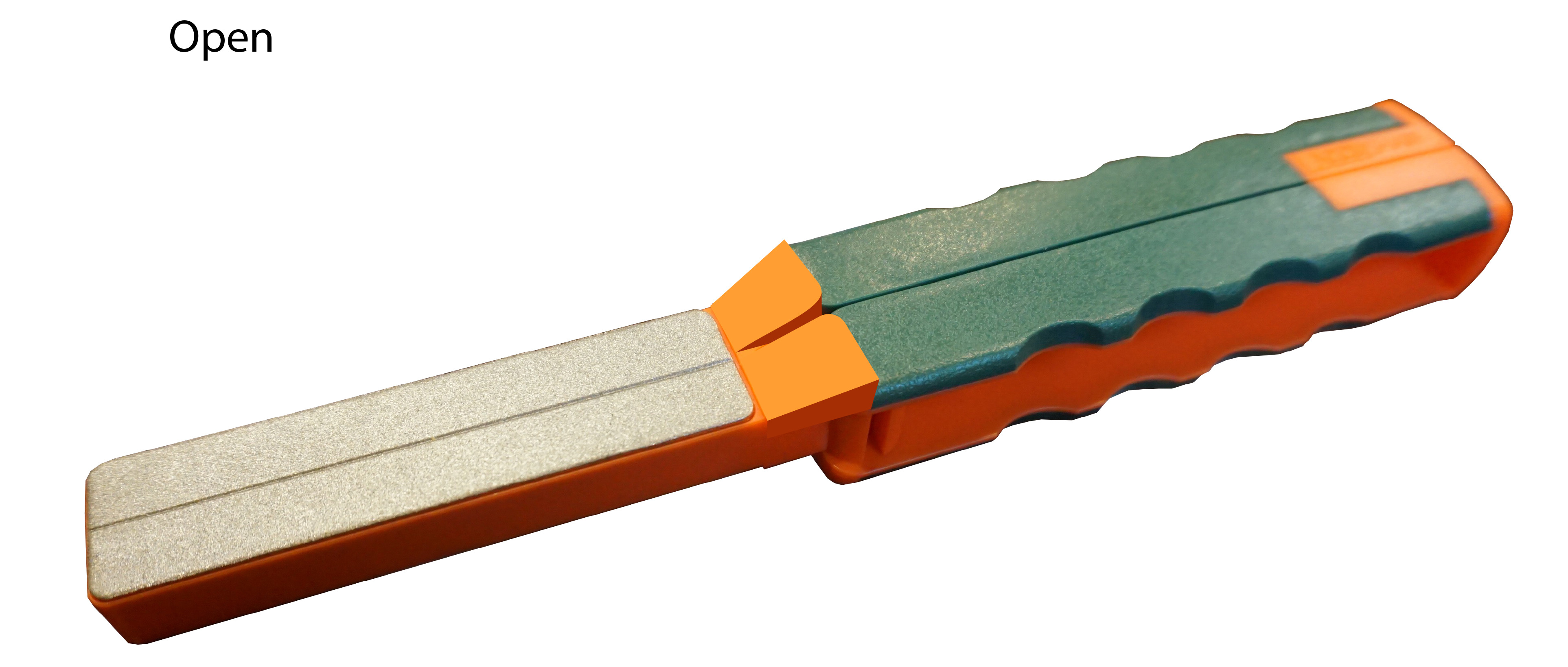 AccuSharp 077C Diamond Paddle Folding Fine, Coarse Diamond Sharpener Gray/Orange Overmolded Rubber Handle