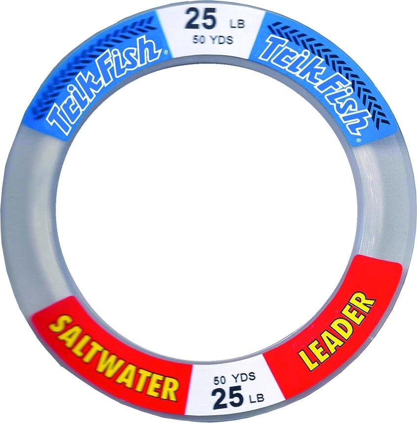 Trik Fish SWL0002501 Mono SW Leader Wrist Spool 25lb 50yd Clear