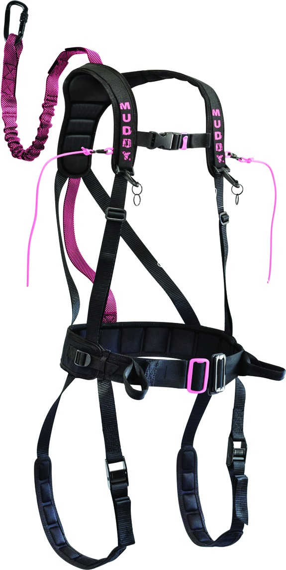 Muddy MSH405-SM Safeguard Treestand Safety Harness, Flexible Tether