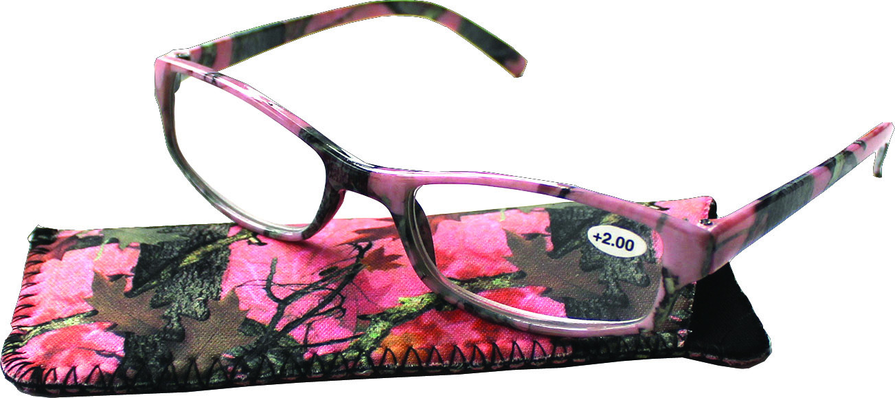 Rivers Edge 303 Reading Glasses Pink Camo