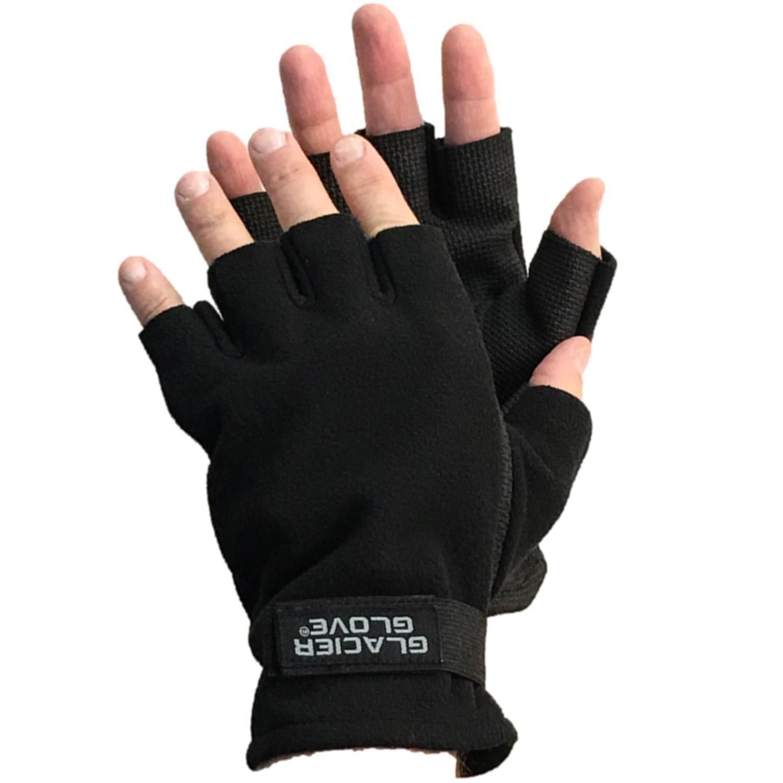 Glacier 757BK-M Fleece Glove Med Windproof neoprene palm