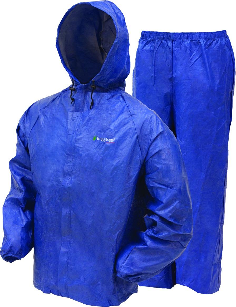 Frogg Toggs UL12104-12SM Men's Ultra-Lite II Rain Suit, Blue, Size