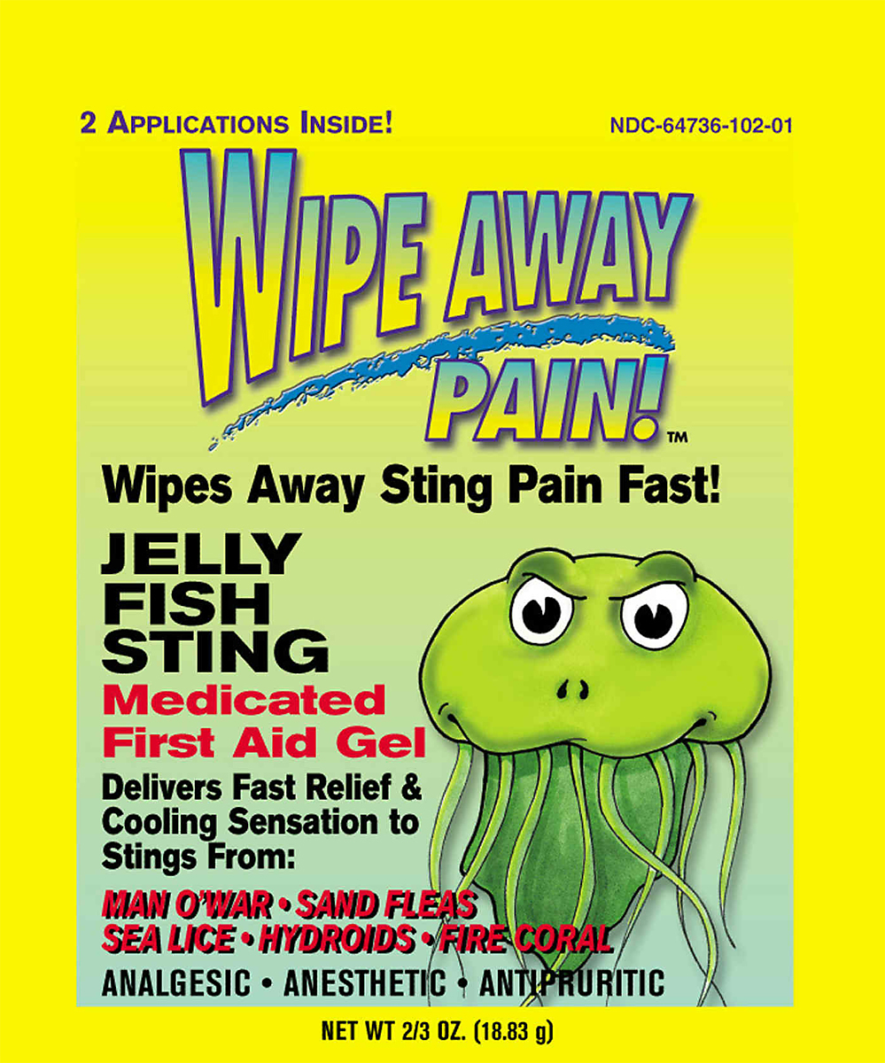 Marine Sports 1825 Wipe Away Sting Stop Medicated First Aid Gel