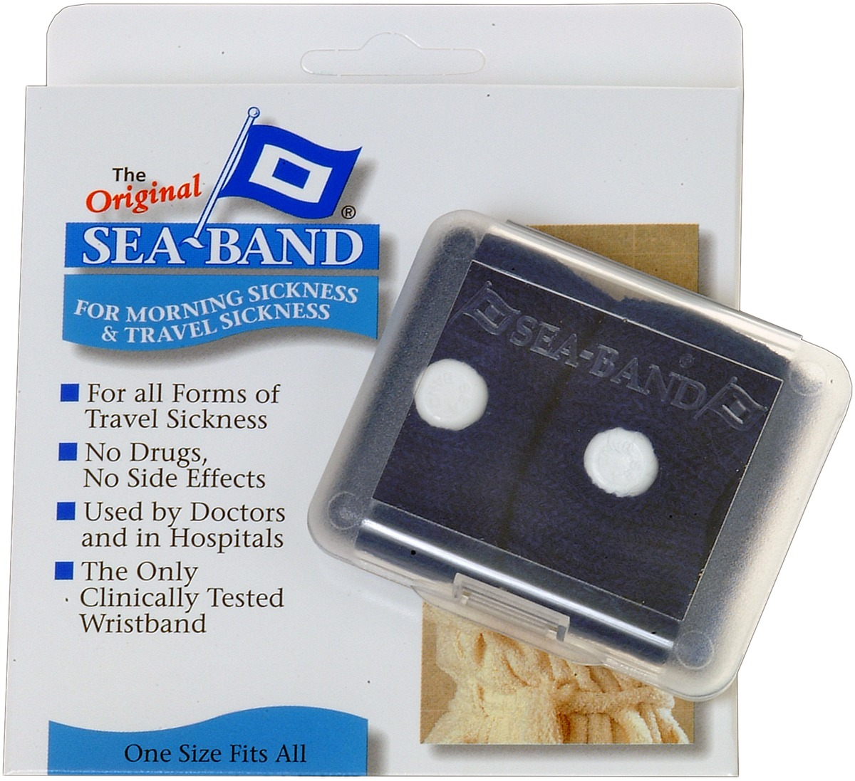 Sea Band 1811 Motion Sickness Relief, Reusable Wrist Bands, Pair