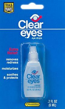 Clear Eyes 1760 Redness Refief Solution - .2 oz Bottle