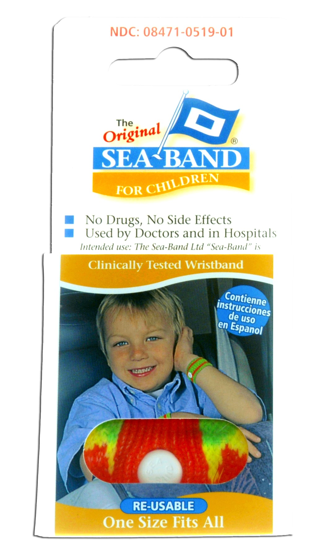 Sea Band 1811KD for KIDS Motion Sickness Relief, Reusable Wrist