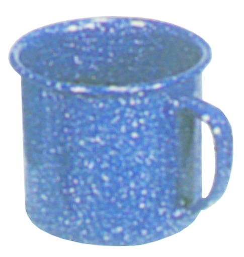 Stansport 15985 Enamel Coffee Mug - Stainless Edge - 12 Oz
