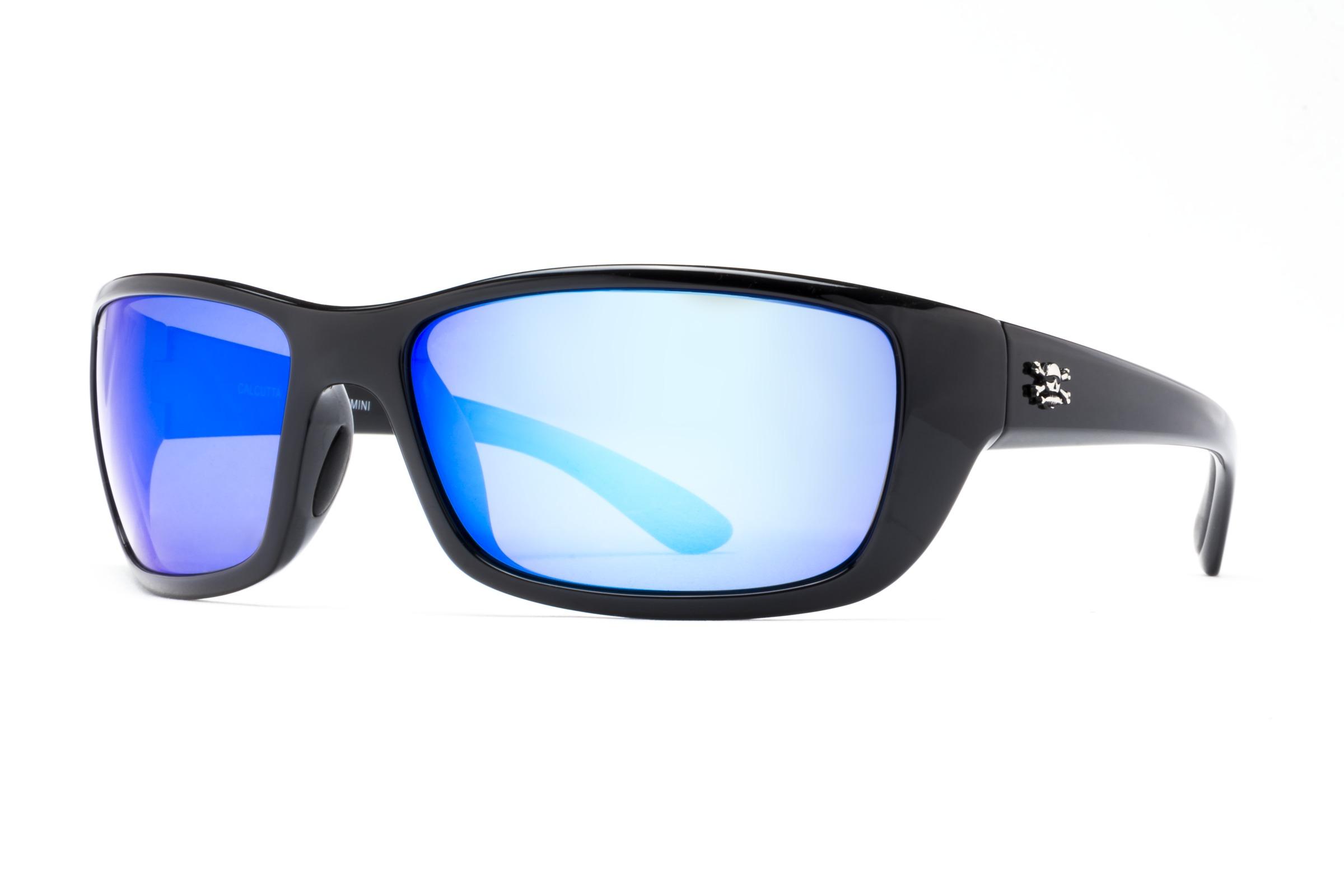 Calcutta BN1BM Bimini Sunglasses Black Frame/Blue Mirror Lens 64mm