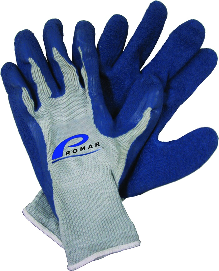 Promar GL-200-M Blue Latex Grip Glove Medium