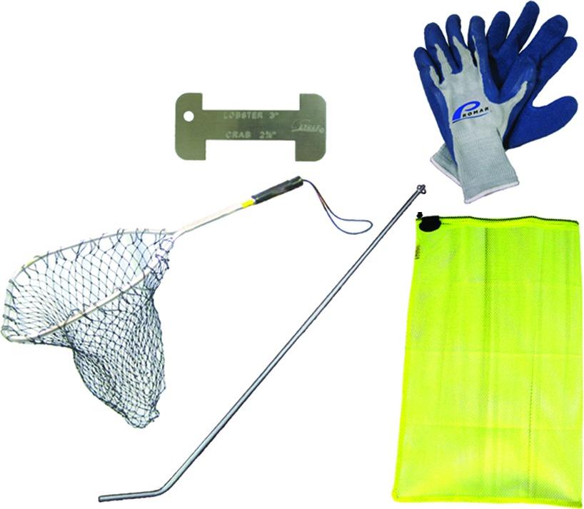 Promar NE-105D Pro Lobster Dive Kit w/Bag,Tickle Stick,Gauge,Gloves,Net