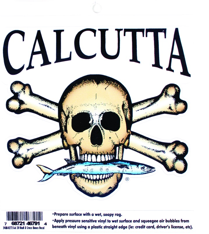 Calcutta CAL20 Skull and Cross Bones Decal