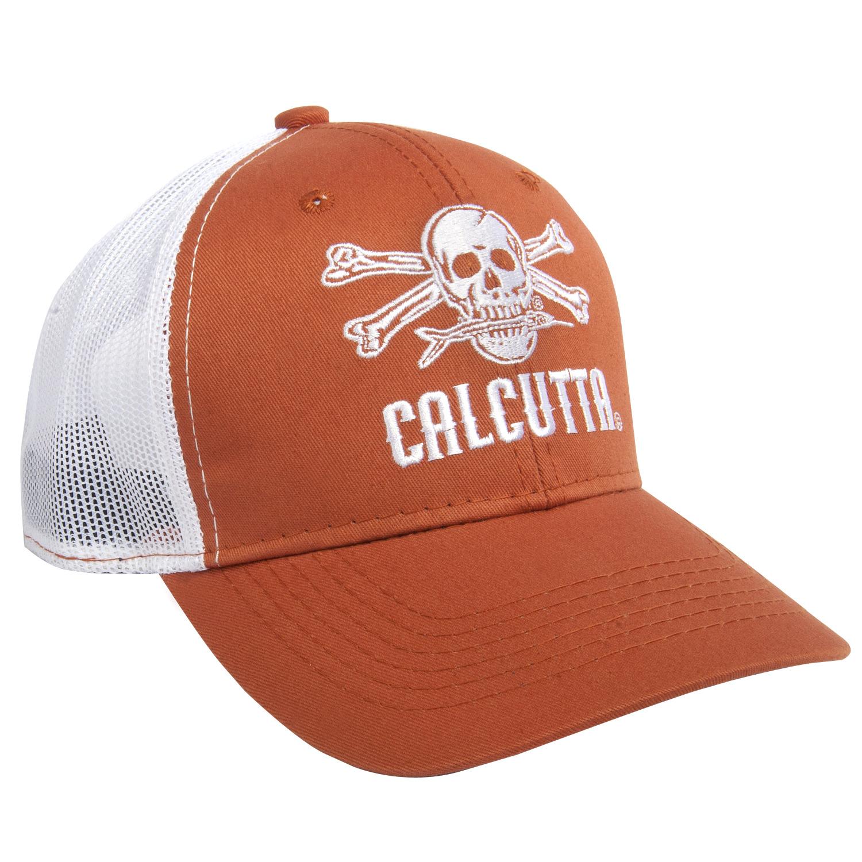 Calcutta BR227546 Orange Crown White embroidered logo. Mesh back