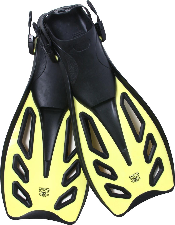Calcutta BR57656 Flex Blade Swim Fins, w/Strap Lg/XLg Yellow/Black