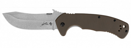 Kershaw CQC-11K Folder 3.5 in SW Blade Brown G10 Handle