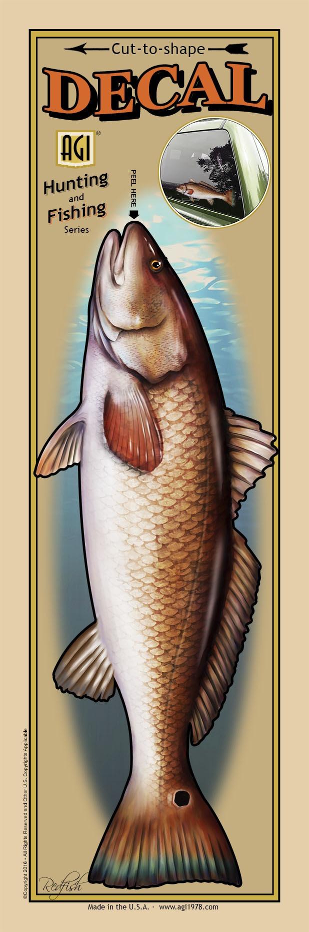 Salty Bones BPF2477 Decal, Profile Redfish