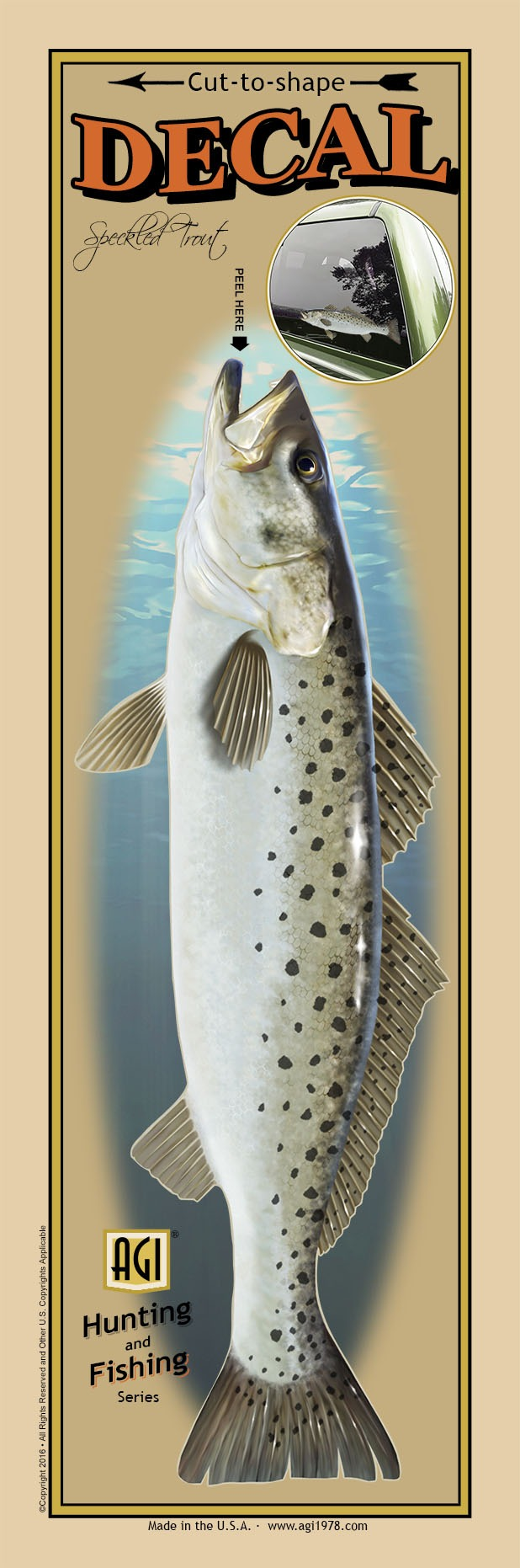 Salty Bones BPF2501 Decal, Profile Speckled Trout
