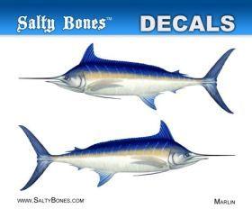 Salty Bones BPF2481M Decal Mini-Marlin