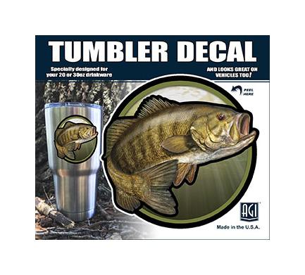 Bones YP2500 Smallmouth Bass Tumbler Decal