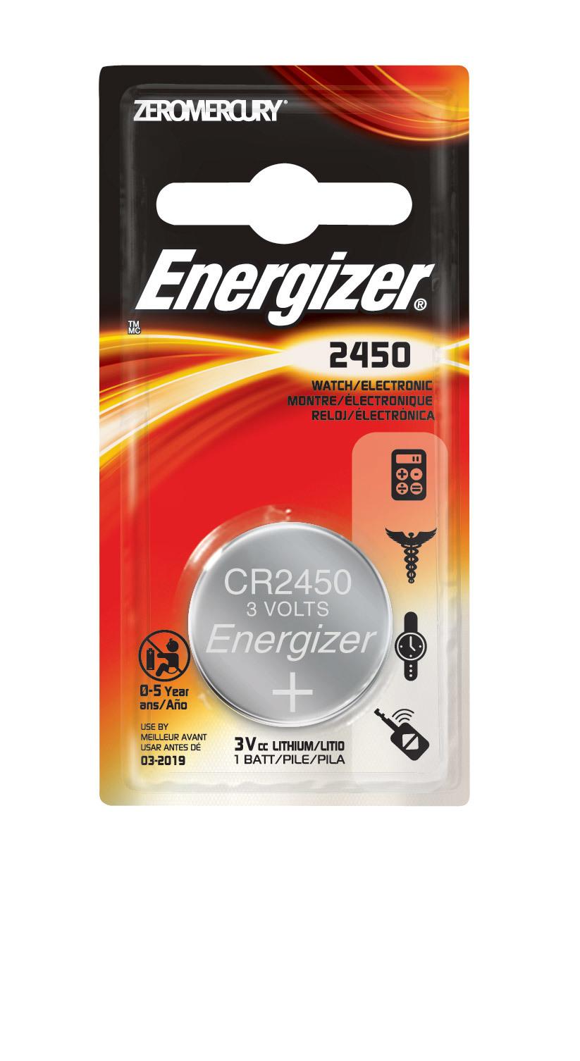 Energizer ECR2450BP Lithium Coin Battery CR2450