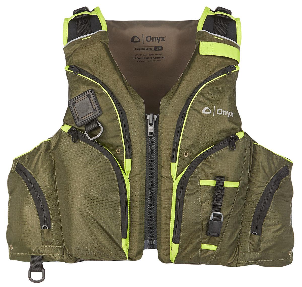 Onyx 120600-400-050-20 Pike Paddle Sports Life Jacket-Green L/XL