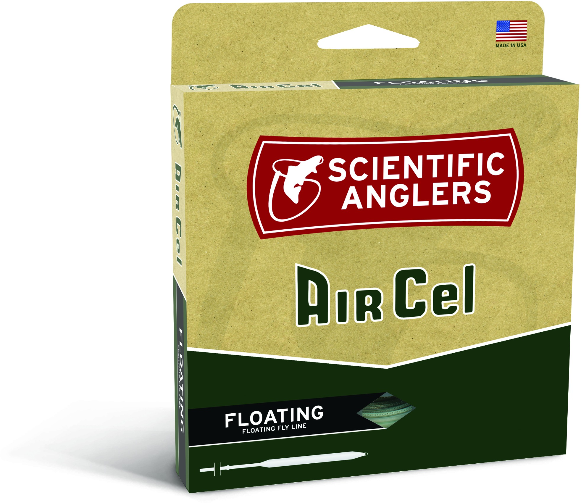 Scientific Anglers Air Cel Floating Fly Line-WF-6-F-Yellow