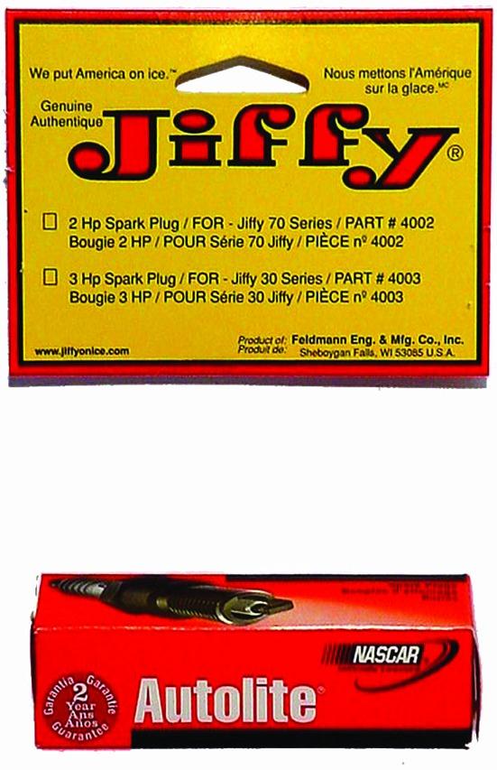 Jiffy 4002 Spark Plug For 2HP Tecumseh Engines