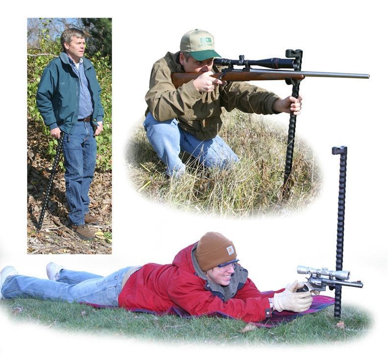 MTM SHOOTERS WALKING STICK ADJUSTABLE FIELD SHOOTING REST BLACK
