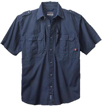 TACT S/S SHIRT MEDIUM NAVY
