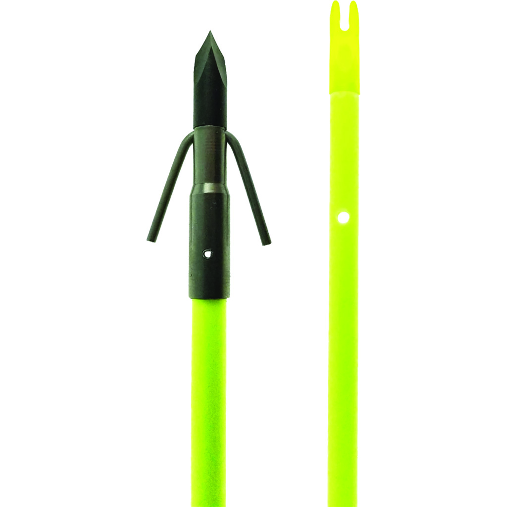 Muzzy Classic Fish Arrow with Gar Point  <br>  Chartreuse
