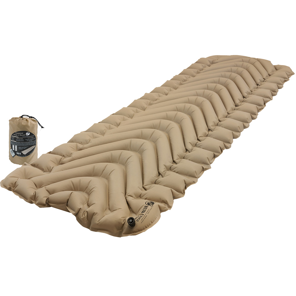 Klymit Insulated Static V Recon Sleeping Pad  <br>  Coyote-Sand