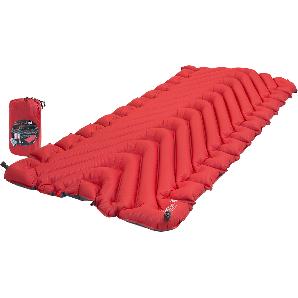 Klymit Insulated Static V Luxe Sleeping Pad  <br>  Red