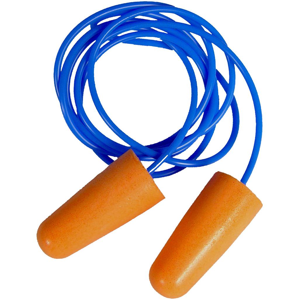 Radians Resistor 32 Foam Ear Plugs  <br>  Corded 3 pk.