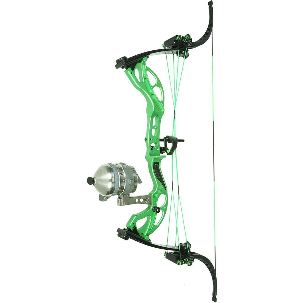Muzzy LV-X Bowfishing Bow  <br>  Green 25-29 in. 25-50 lb. LH