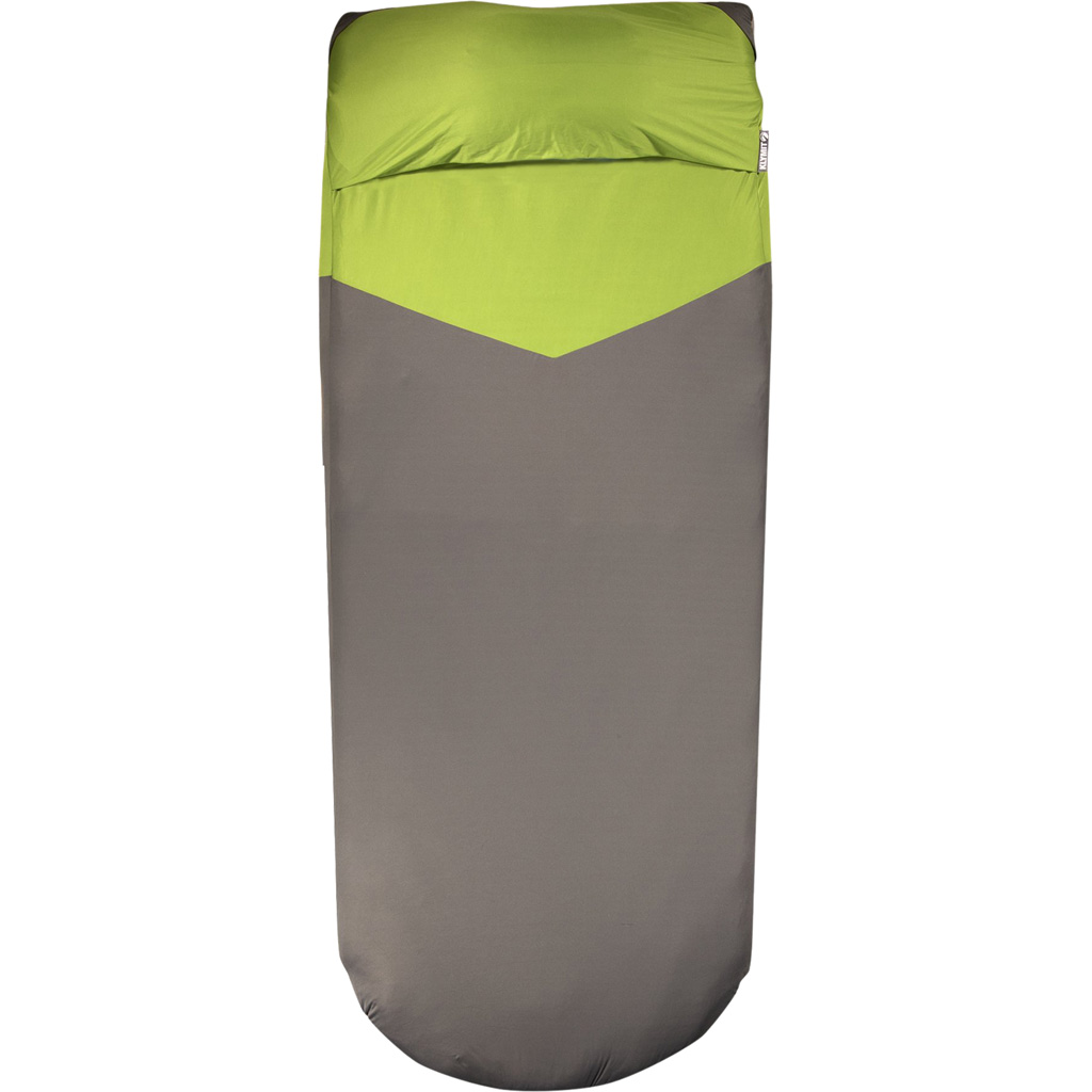 Klymit Luxe V Sheet Pad Cover  <br>  Green/Gray