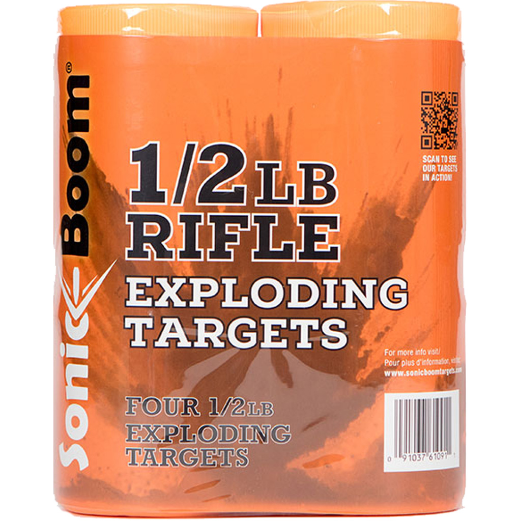 Sonic Boom Exploding Rifle Targets  <br>  1/2 lb. 4 pk.