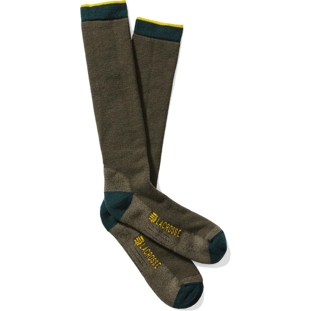 Lacrosse Men's Merino Midweight Socks  <br>  Over Calf Green X-Large