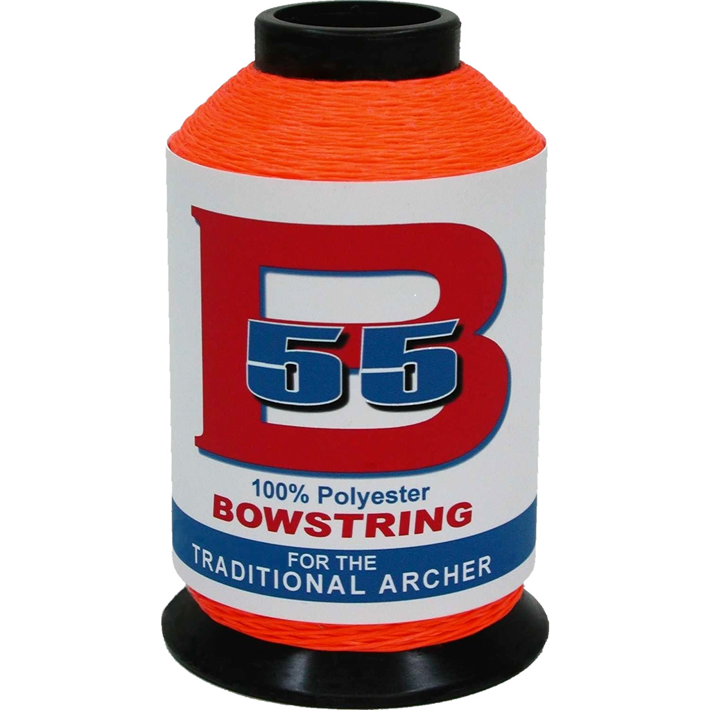 BCY B55 Bowstring Material  <br>  Fluorescent Orange 1/4 lb.