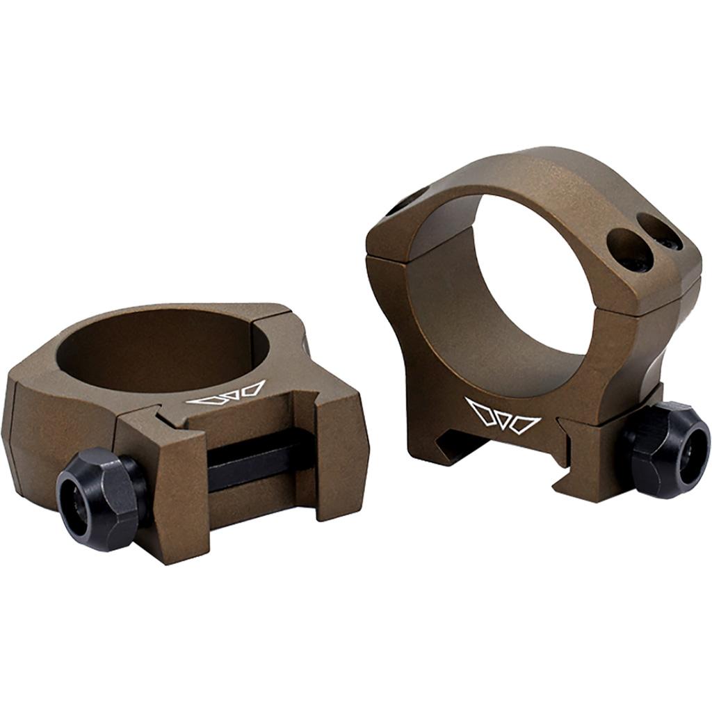 Warne Mountain Tech Scope Rings  <br>  Burnt Bronze 30mm Low