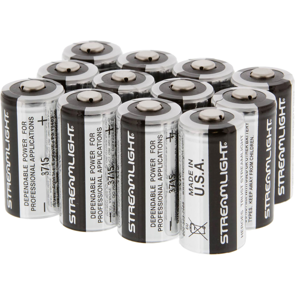 Streamlight Lithium Batteries  <br>  CR123A 2 Pack