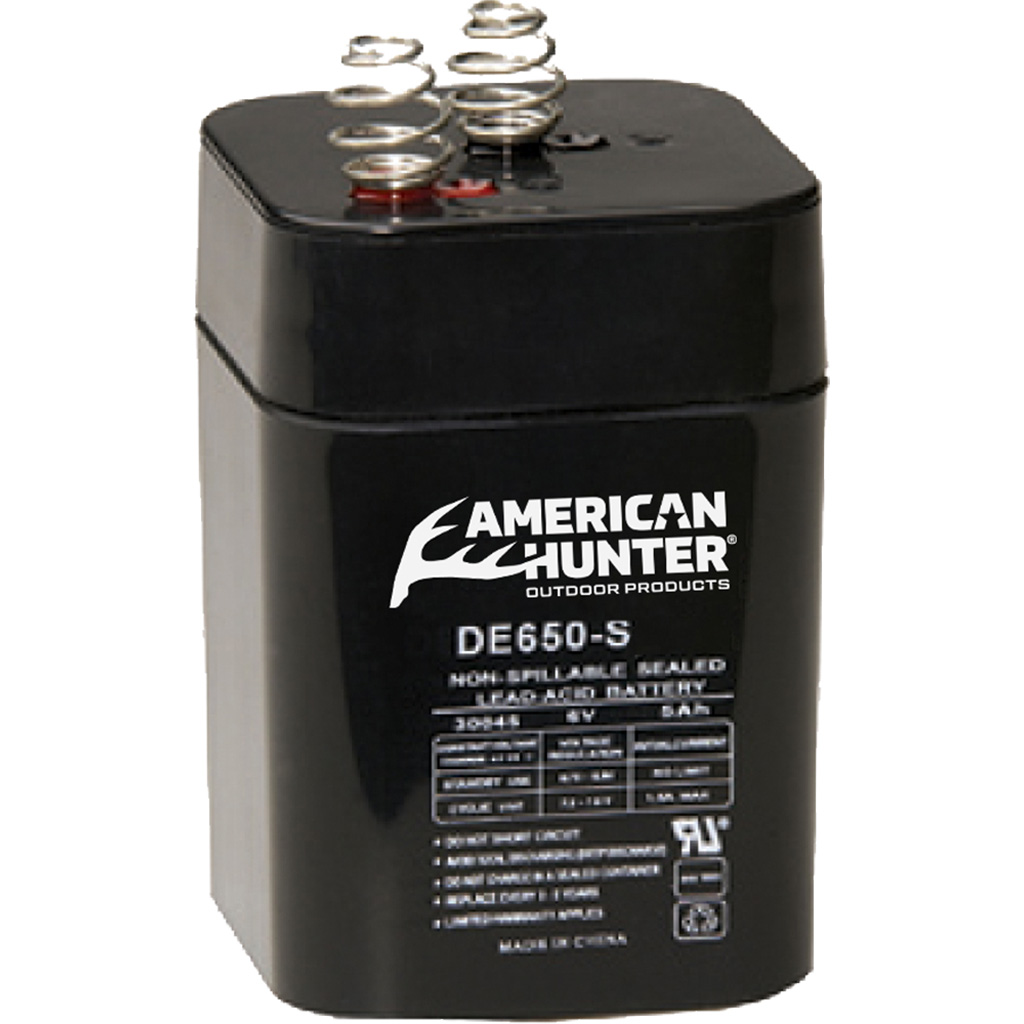 American Hunter Rechargeable Battery  <br>  6V Spring Top